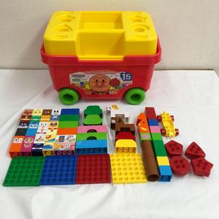 バンダイ(BANDAI)のバンダイ アンパンマン ブロックラボ はじめてのブロックワゴン 送料込(積み木/ブロック)