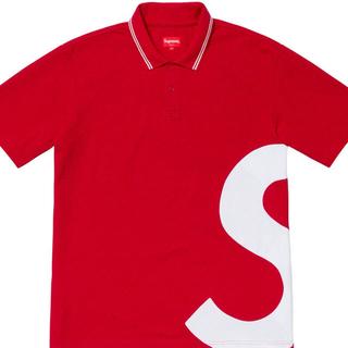 シュプリーム(Supreme)のsupreme s logo polo 赤 M(ポロシャツ)