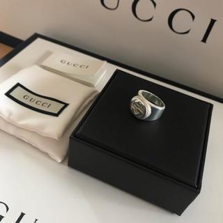 グッチ(Gucci)のGUCCI/インターロッキングG/ダブルG 指輪シルバー箱付き16号(リング(指輪))
