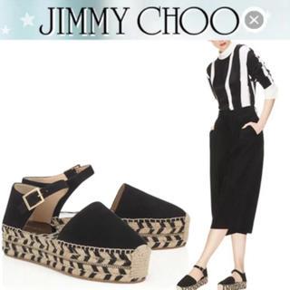 ジミーチュウ(JIMMY CHOO)のJIMMY CHOO エスパドリーユ ジュート サンダル36(サンダル)