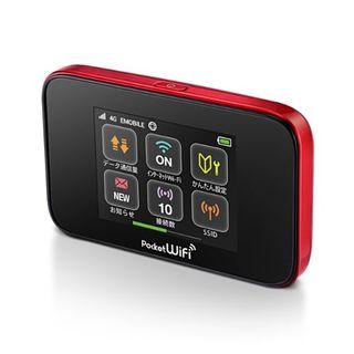 ソフトバンク(Softbank)の【美品】 EMOBILE Pocket WiFi GL10P レッド(スマートフォン本体)
