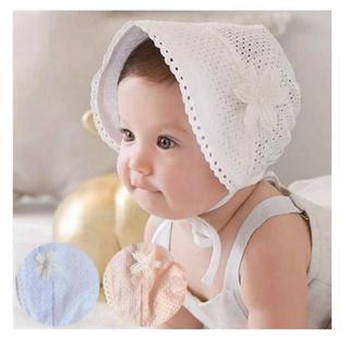 ファミリア(familiar)の新品未使用♡ベビーボンネット ベビー帽子 白 ホワイト日除け(帽子)