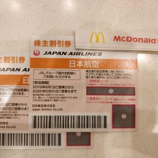 ジャル(ニホンコウクウ)(JAL(日本航空))の株主優待券 JAL 日本航空 2枚(航空券)