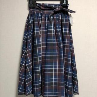 ナノユニバース(nano・universe)のチェックギャザースカート(ひざ丈スカート)