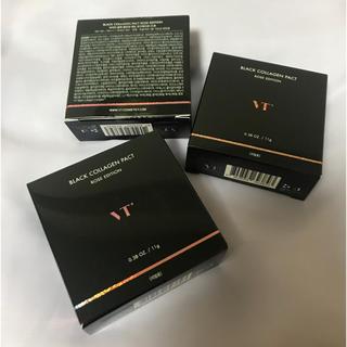 ボウダンショウネンダン(防弾少年団(BTS))のVT リフィル3個 ブラックコラーゲンパクト ローズエディション #21(ファンデーション)
