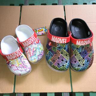 マーベル(MARVEL)のゆみ様専用 クロックス風サンダル パパママと親子コーデ MARVEL(サンダル)