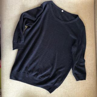 ムジルシリョウヒン(MUJI (無印良品))の無印 フレンチリネン 七分袖ニット(ニット/セーター)