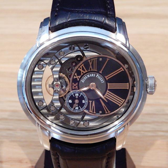 AUDEMARS PIGUET(オーデマピゲ)の超美品 オーデマピゲ ミレネリー 4101 研磨済み 革ベルト スケルトン メンズの時計(腕時計(アナログ))の商品写真