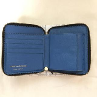 COMME des GARCONS - コムデギャルソン 二つ折財布 黒✖︎青