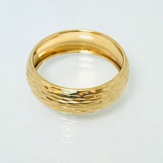 k18 リング 18kt ITALY 16.5号 美品 デザインリング 指輪(リング(指輪))