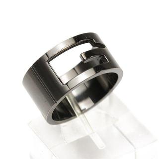 グッチ(Gucci)のグッチ ブランデッドワイドG リング #22 ブラック 925 シルバー(リング(指輪))