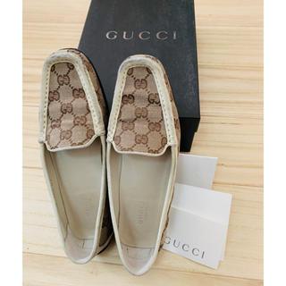 グッチ(Gucci)の★GUCCI グッチ G G柄 モカシンシューズ 35 1/2(ローファー/革靴)