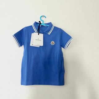 モンクレール(MONCLER)の新作新品 モンクレールキッズ 4A104cm ポロシャツ ブルー(Tシャツ/カットソー)