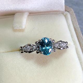 超美品 天然ブルージルコンダイヤリング(リング(指輪))