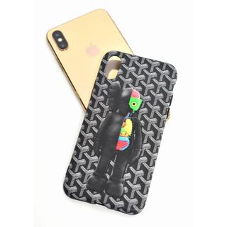ゴヤール(GOYARD)のiPhone X  XS用   激レアなイラストソフトシリコンケース 黒(iPhoneケース)