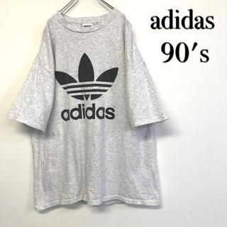 アディダス(adidas)の美品 90's adidas ビッグトレフォイル Tシャツ(Tシャツ/カットソー(半袖/袖なし))