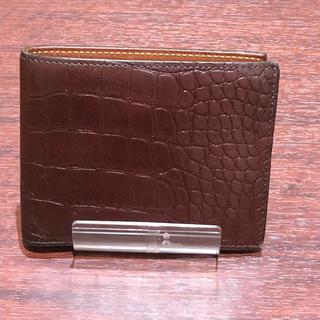 ビームス(BEAMS)のBEAMS ビームス レザー型押し 折財布 茶系(折り財布)
