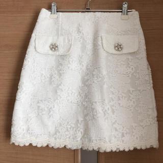 ByeBye - ホワイトレーススカート
