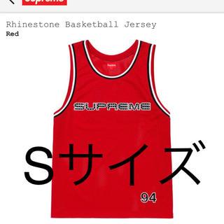 シュプリーム(Supreme)の新品 Sサイズ Rhinestone Basketball Jersey 赤(タンクトップ)