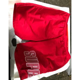 シュプリーム(Supreme)のsupreme logo applique water short red L(水着)