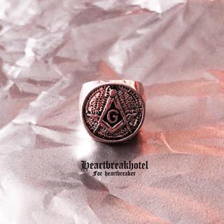 ❤︎ Vintage Silver Freemason Ring(リング(指輪))