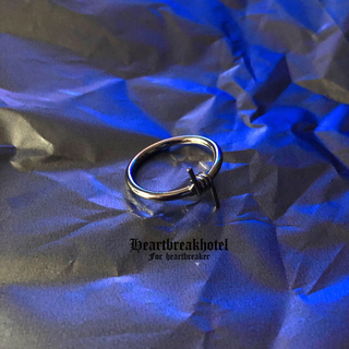 ♡ Vintage Silver Wire Punk Unisex ring(リング(指輪))