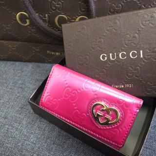 グッチ(Gucci)の正規品☆グッチ キーケース ピンク GG柄 バッグ 財布 小物(キーケース)