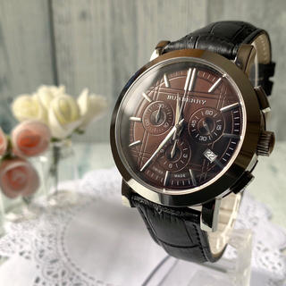 バーバリー(BURBERRY)の【美品】BURBERRY バーバリー BU1383 腕時計 クロノグラフ(腕時計(アナログ))