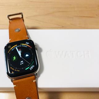 アップルウォッチ(Apple Watch)の【美品】Apple Watch series4 44mm ステンレスモデル(腕時計(デジタル))