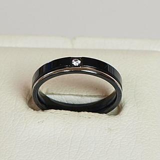 ステンレスリング ブラック&ホワイト メンズ 19号(リング(指輪))