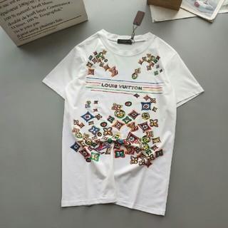 ルイヴィトン(LOUIS VUITTON)のTシャツ LOU1S VUITTON ホワイト 男女兼用(Tシャツ(半袖/袖なし))
