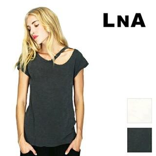 LNA/新品未使用/カットアウトTシャツ/デザートクルーTシャツ
