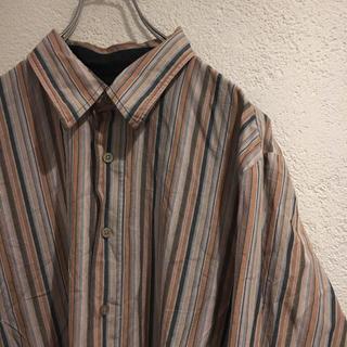 カルバンクライン(Calvin Klein)の90s CK カルバンクライン シャツ 長袖シャツ チェック ボーダー 柄シャツ(シャツ)