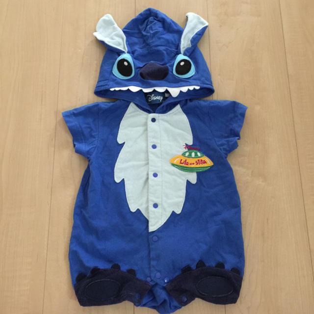 Disney(ディズニー)のディズニー  スティッチ  ロンパース  70 キッズ/ベビー/マタニティのベビー服(~85cm)(ロンパース)の商品写真