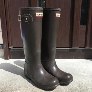 HUNTER - ハンター レインブーツ UK4、23cm ブラウン*HUNTER、長靴