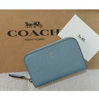 コーチ(COACH)のコーチ ジップ アラウンド コイン ケース   コーンフラワー 箱付き♪(コインケース)