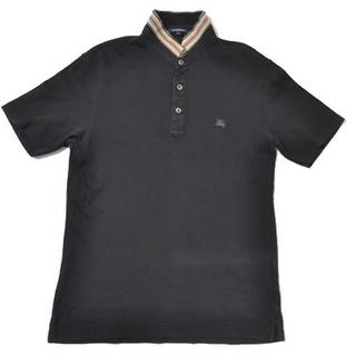 バーバリー(BURBERRY)の◆BURBERRY LONDON◆sizeL polo shirt black(ポロシャツ)