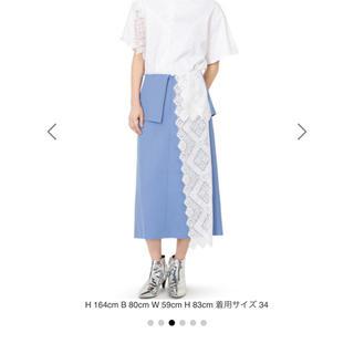 ルシェルブルー(LE CIEL BLEU)の新品ルシェルブルー今季レースパネルドスカート(ひざ丈スカート)