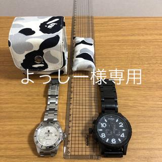 アベイシングエイプ(A BATHING APE)のエイプ サルマリーナ自動巻きとニクソン時計 セット(腕時計(アナログ))