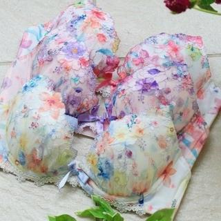 リサマリ(Risa Magli)の新品!EFリサマリカラフルフラワーブラジャーショーツセット(ブラ&ショーツセット)