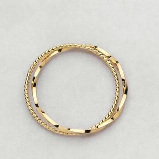 とても華奢なツイストワイヤーピンキーリング 3号(リング(指輪))