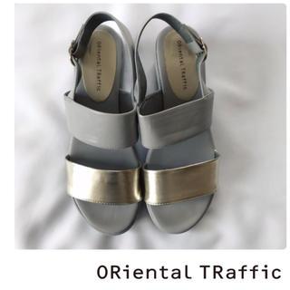 ORiental TRaffic - 【未使用】オリエンタルトラフィック バックストラップサンダル グレー