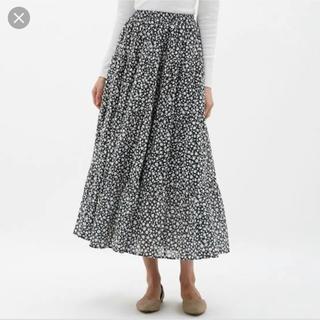 ジーユー(GU)のGU ティアードフレアロングスカート(ロングスカート)