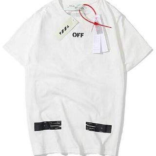 オフホワイト(OFF-WHITE)のoff-whitetシャツ黒(白)(Tシャツ(半袖/袖なし))