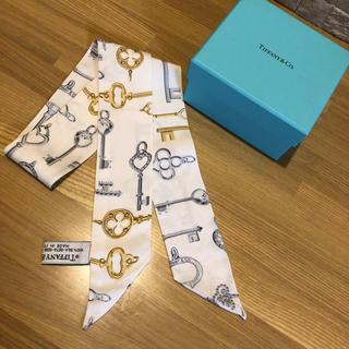 ティファニー(Tiffany & Co.)のティファニー ツイリー リボン ホワイト(バンダナ/スカーフ)