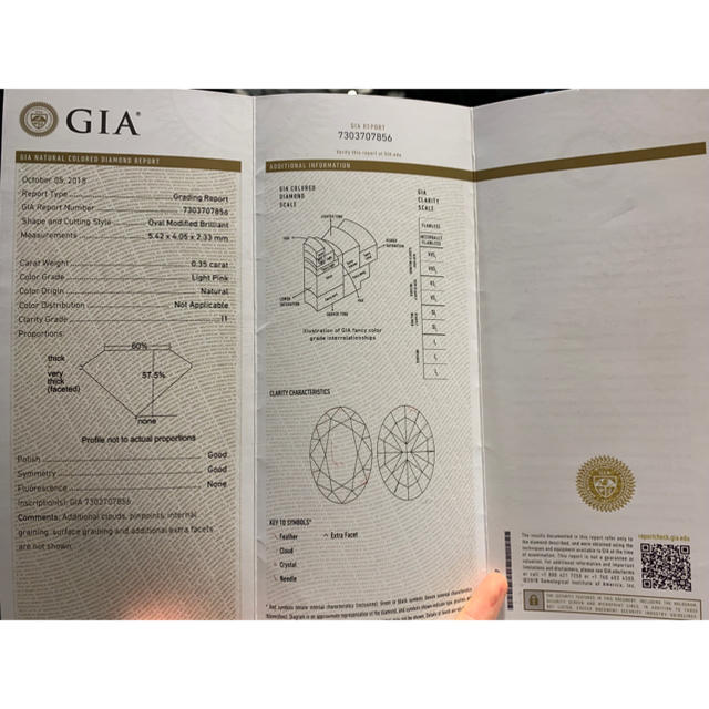 Giaピンクダイヤモンド超豪華指輪 レディースのアクセサリー(リング(指輪))の商品写真