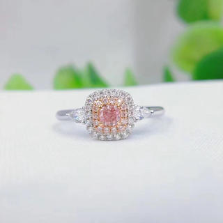 Giaおトクファンシープァープルピンクダイヤモンドシンプル指輪(リング(指輪))