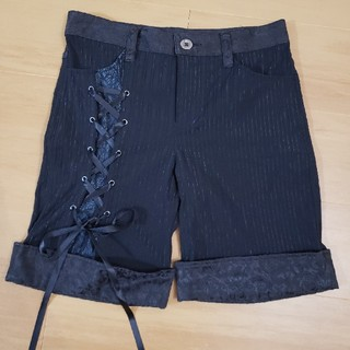 h.naoto - エイチナオトブラッド ハーフパンツ 編み上げ