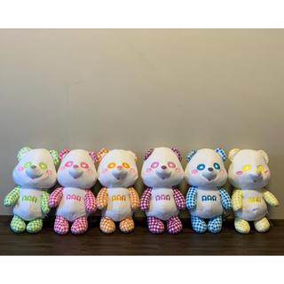 トリプルエー(AAA)のえーパンダ★青★【チェック柄】(ぬいぐるみ/人形)