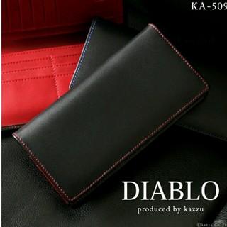 Diavlo - 【新品未使用】DIABLO 馬革×牛革長財布 ブラック×レッド